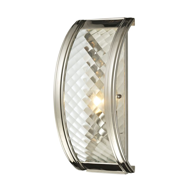 Elk Lighting 31460/1 Chandler 1 Light Wall Sconce Polished Nickel