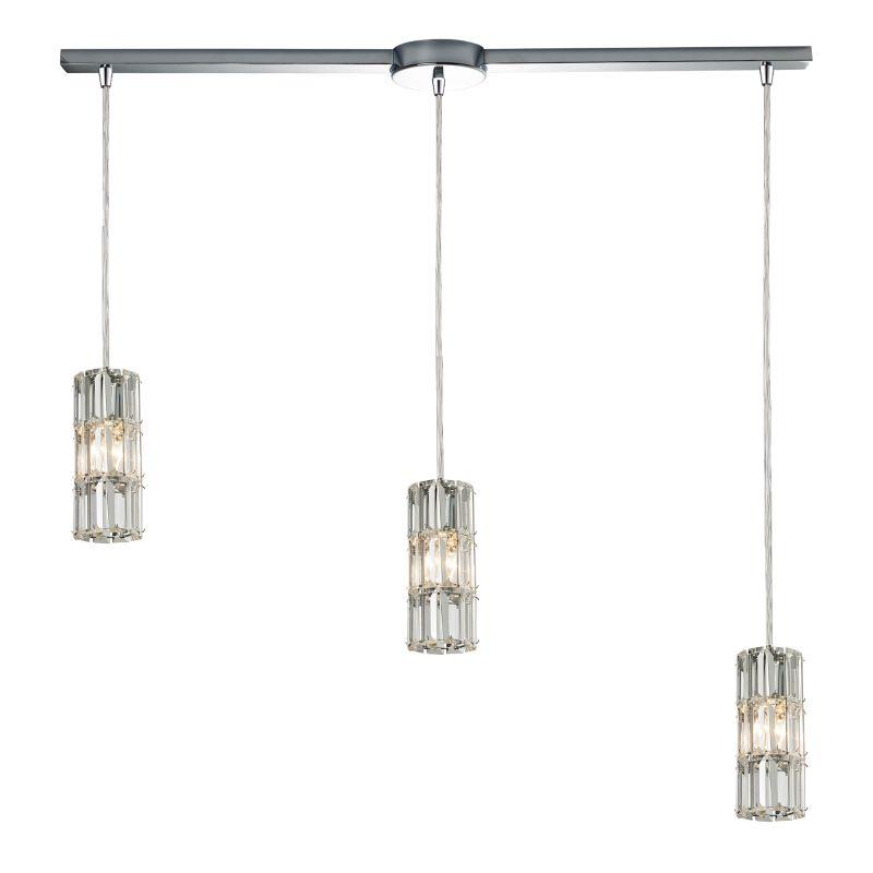 "Elk Lighting 31486/3L Cynthia 3 Light 36"" Wide Crystal Linear Pendant"