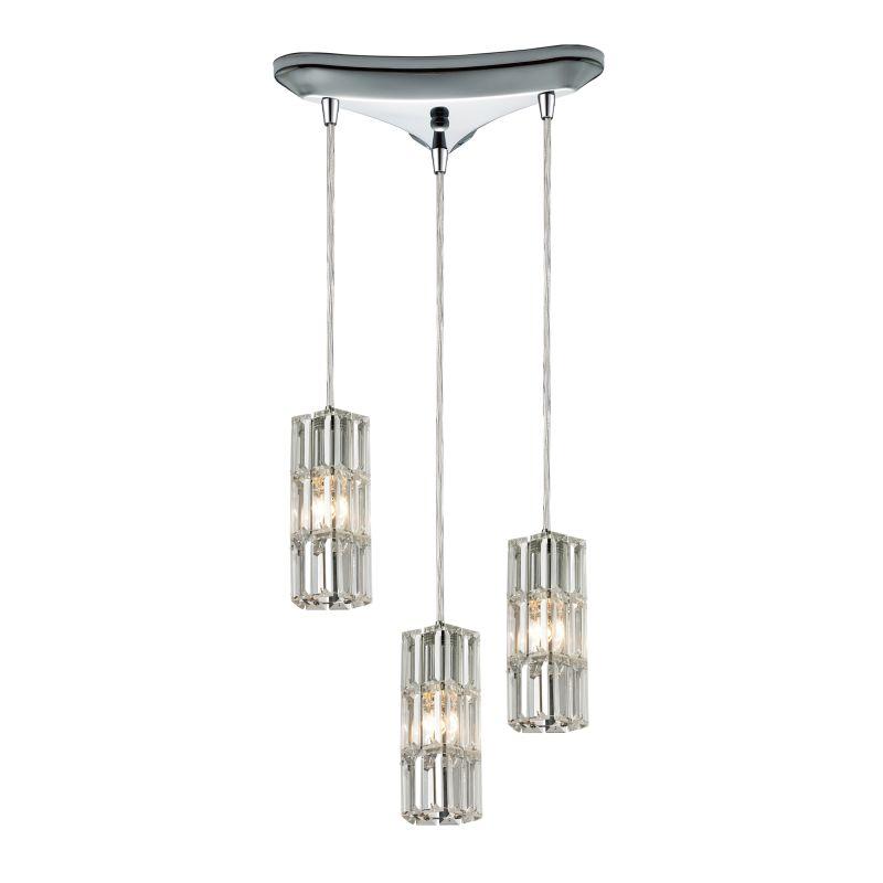 "Elk Lighting 31487/3 Cynthia 3 Light 10"" Wide Crystal Multi Light"