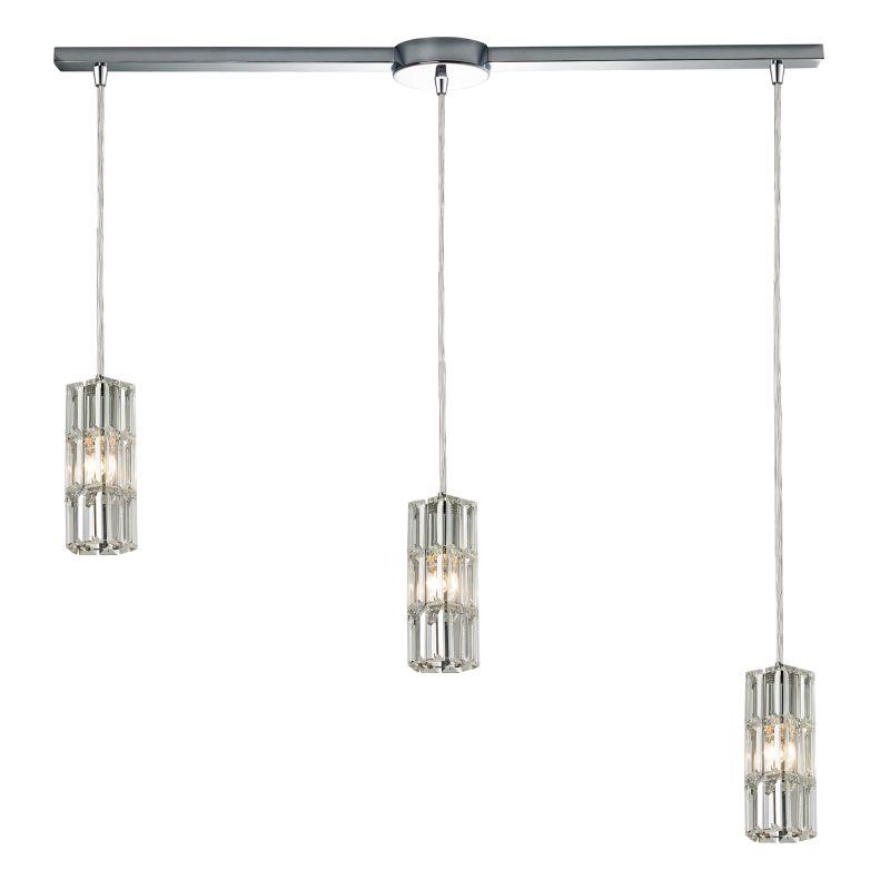 "Elk Lighting 31487/3L Cynthia 3 Light 36"" Wide Crystal Linear Pendant"