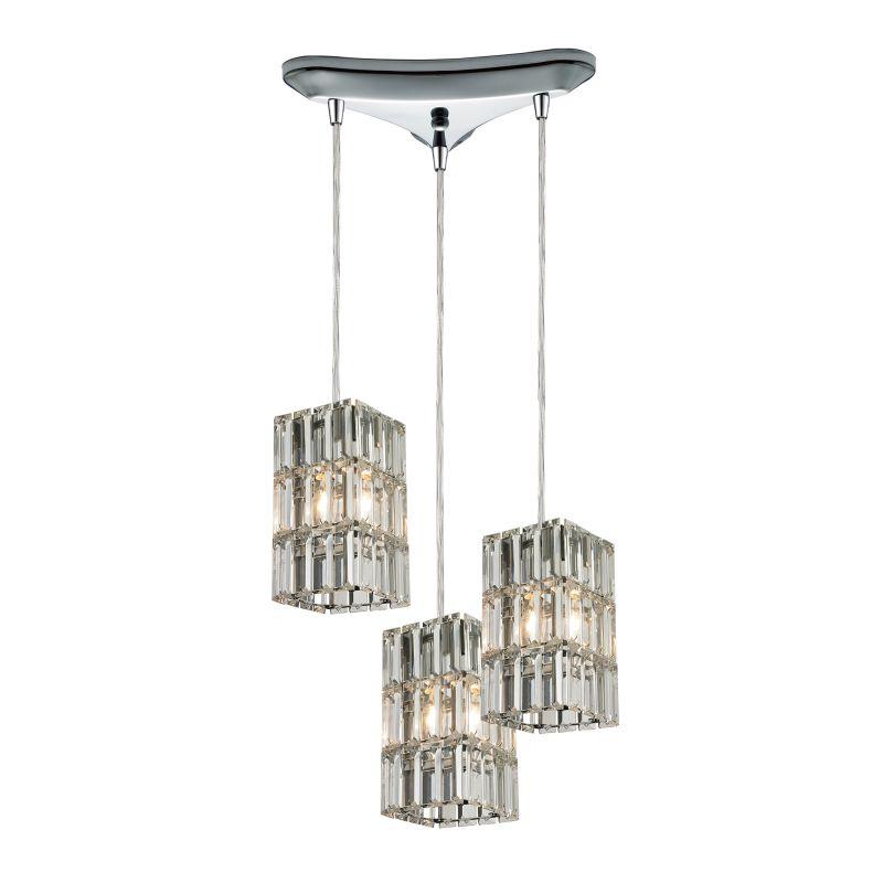 "Elk Lighting 31488/3 Cynthia 3 Light 10"" Wide Crystal Multi Light"