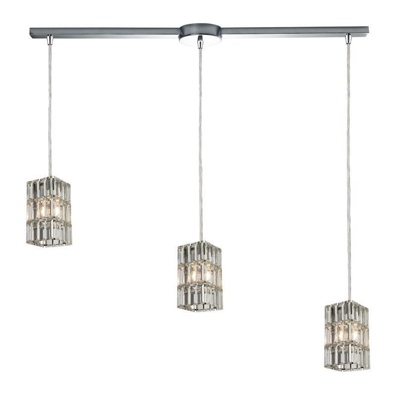 "Elk Lighting 31488/3L Cynthia 3 Light 36"" Wide Crystal Linear Pendant"
