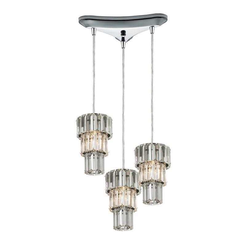 "Elk Lighting 31489/3 Cynthia 3 Light 10"" Wide Crystal Multi Light"