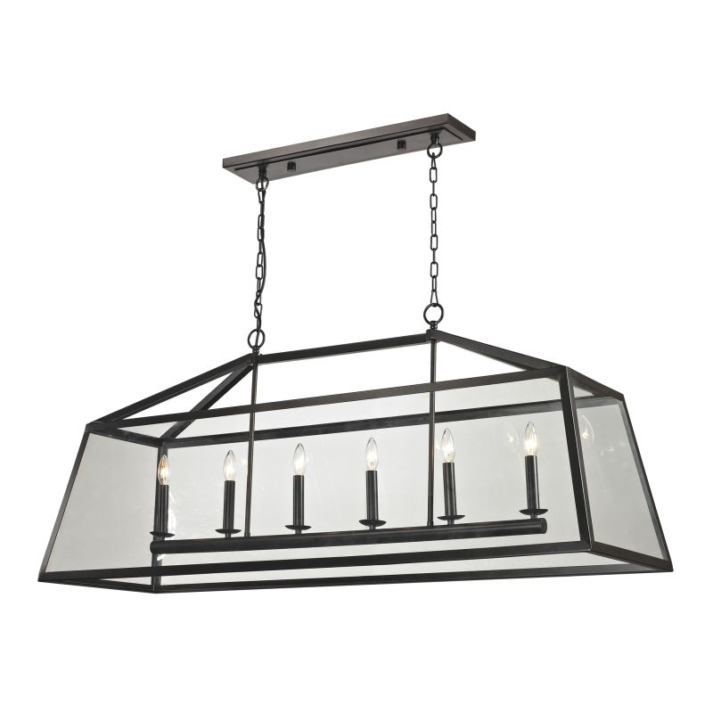 Elk Lighting 31509/6 Alanna 6 Light Chandelier Oil Rubbed Bronze