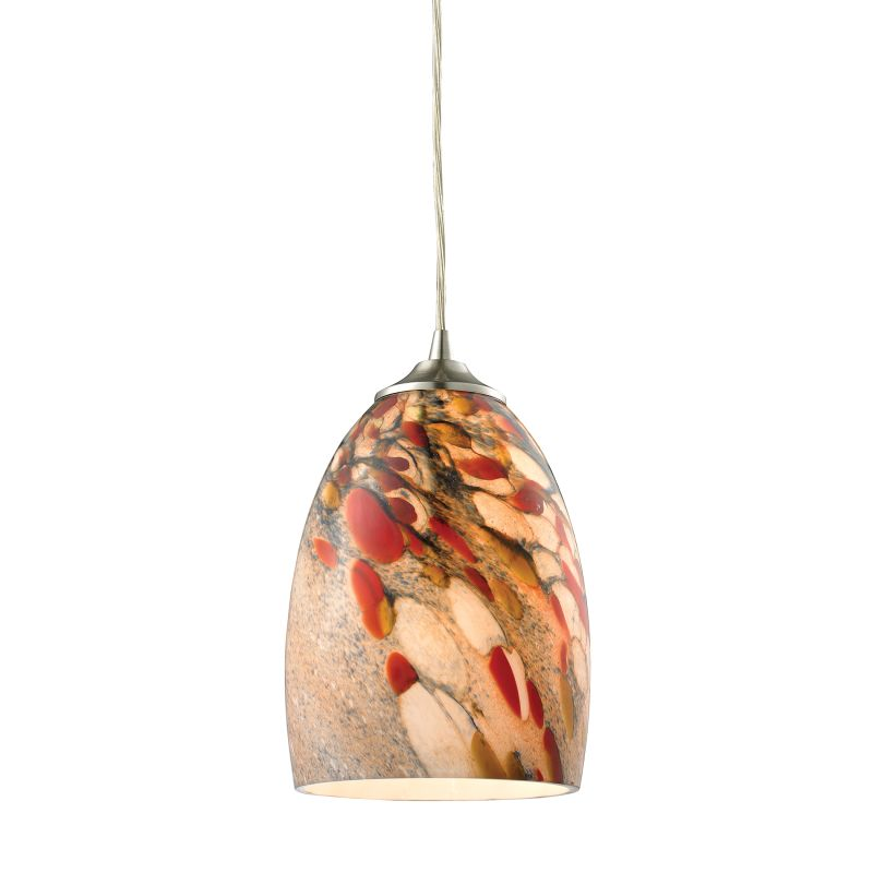 "Elk Lighting 31538/1 Garden Breeze Single Light 6"" Wide Mini Pendant"