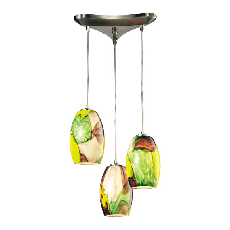 Elk Lighting 31539/3CY Surreal 3 Light Multi Light Pendant Satin Sale $516.00 ITEM: bci2346959 ID#:31539/3CY UPC: 748119066752 :