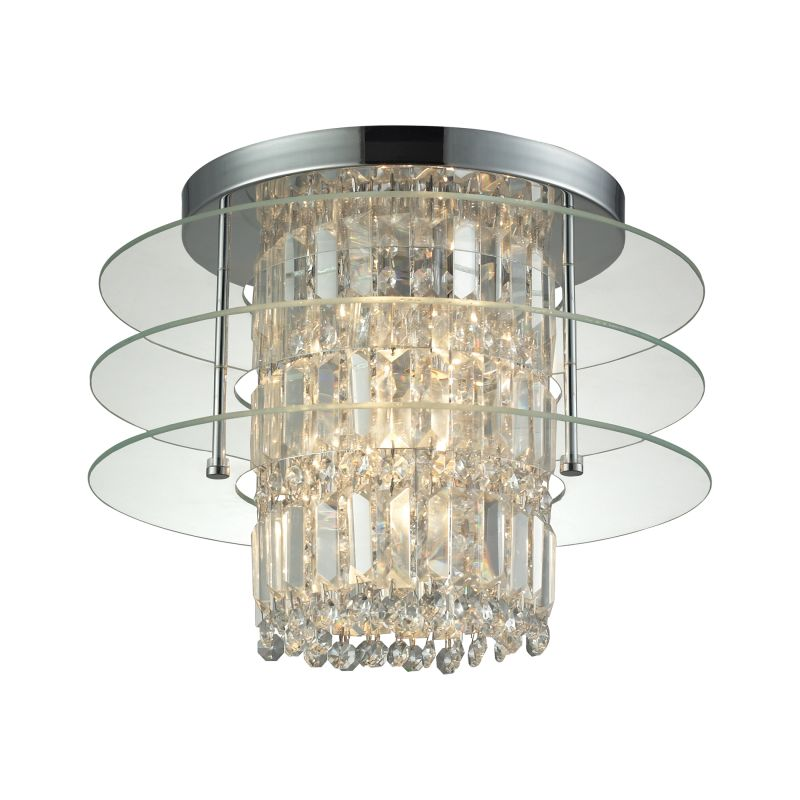 Elk Lighting 31580/3 Zoey 3 Light Semi-Flush Ceiling Fixture Polished Sale $398.00 ITEM: bci2615006 ID#:31580/3 UPC: 748119085593 :