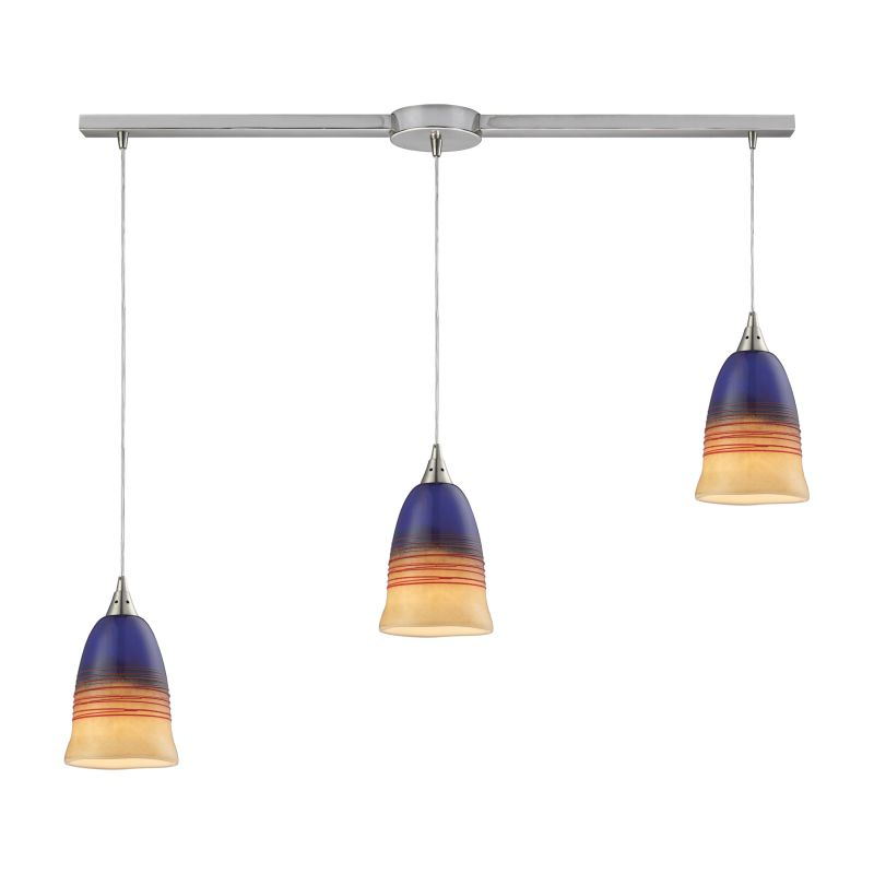"""Elk Lighting 31615/3L Canyon 3 Light 36"""" Wide Linear Pendant with"""