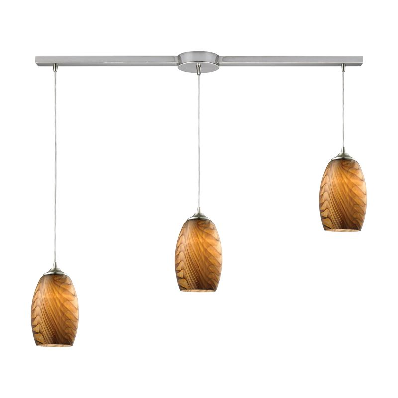 """Elk Lighting 31630/3L Tidewaters 3 Light 36"""" Wide Linear Pendant with"""