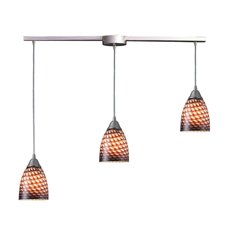 "Elk Lighting 416-3L Arco Baleno 3 Light 36"" Wide Linear Pendant with"
