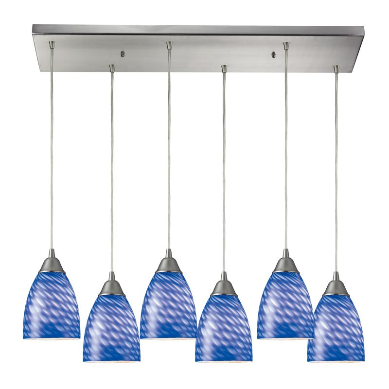 "Elk Lighting 416-6RC Arco Baleno 6 Light 30"" Wide Multi Light Pendant"