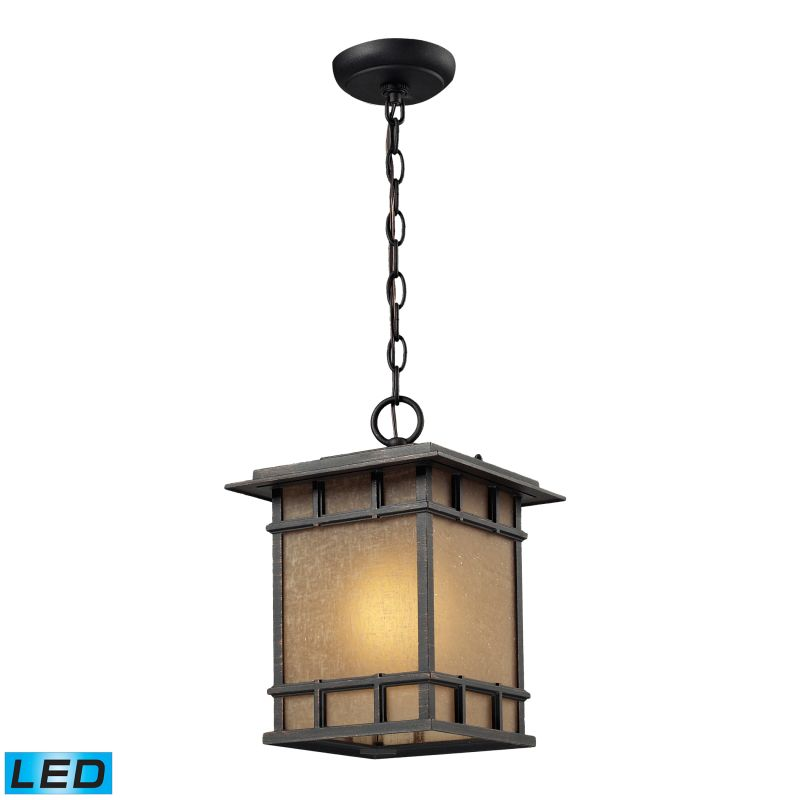 Elk Lighting 45013/1-LED Newlton 1 Light LED Outdoor Pendant Weathered