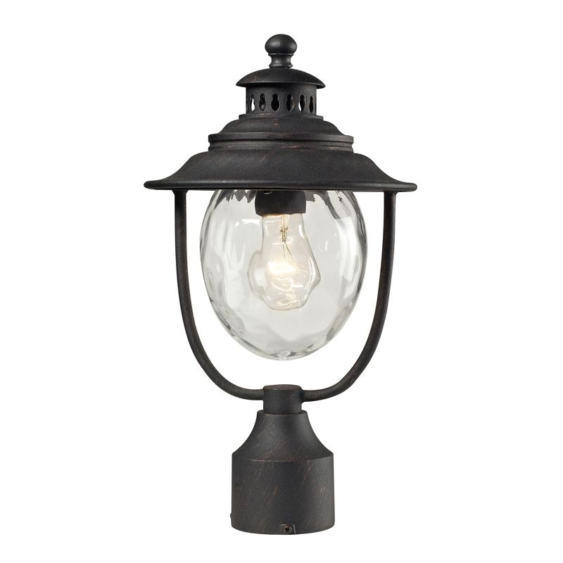 Elk Lighting 45042/1 Searsport 1 Light Post Mount Weathered Charcoal Sale $104.00 ITEM: bci2368525 ID#:45042/1 :