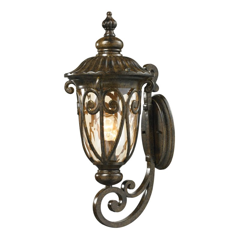 Elk Lighting 45071/1 Logansport 1 Light Outdoor Wall Sconce Hazelnut Sale $188.00 ITEM: bci2351732 ID#:45071/1 UPC: 748119068091 :