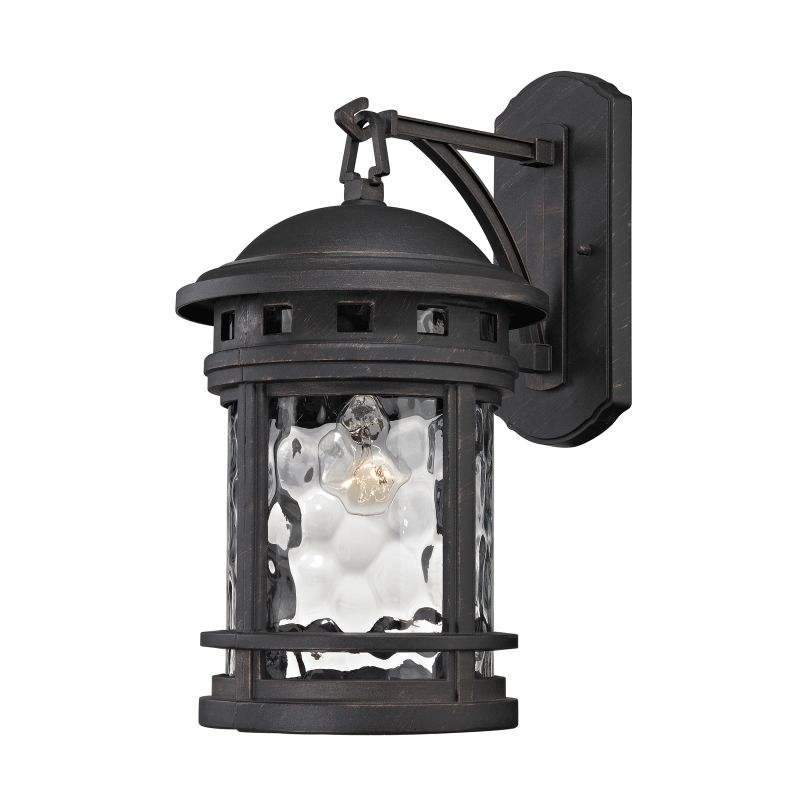 Elk Lighting 45111/1 Costa Mesa 1 Light Outdoor Wall Sconce Weathered Sale $190.00 ITEM: bci2615090 ID#:45111/1 UPC: 748119086804 :