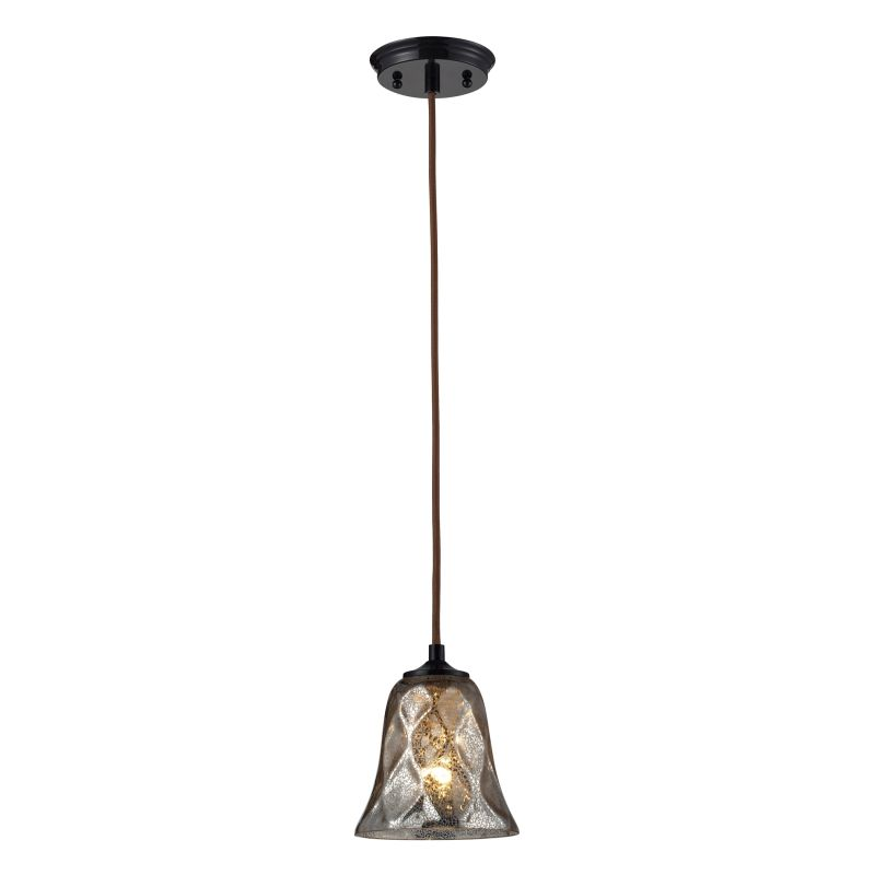 "Elk Lighting 46000/1 Darien Single Light 6"" Wide Mini Pendant with"