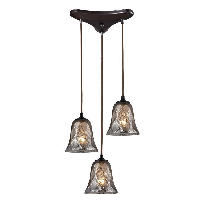 "Elk Lighting 46000/3 Darien 3 Light 10"" Wide Multi Light Pendant with"