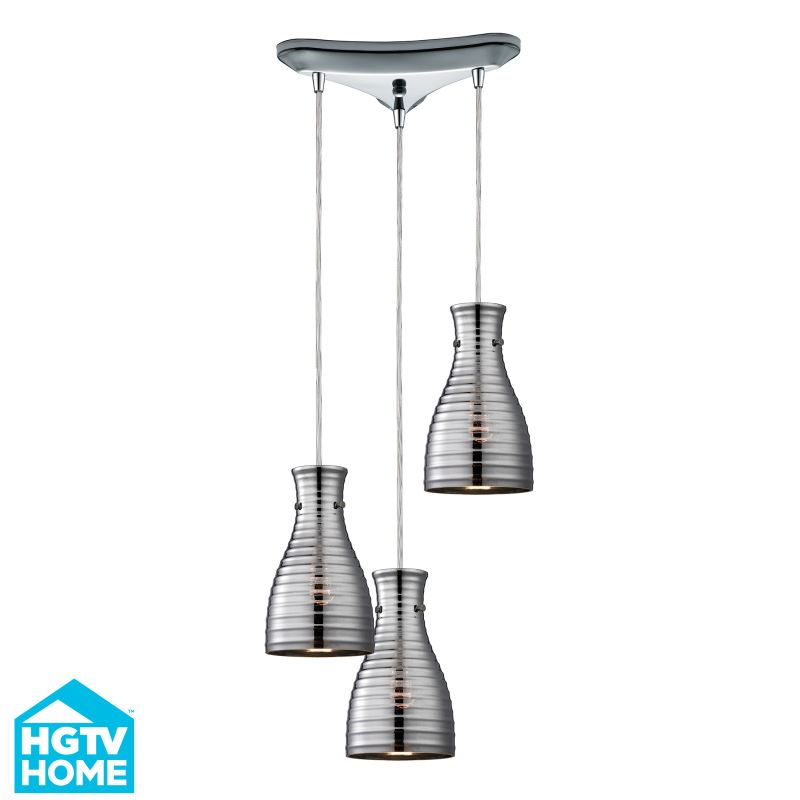 Elk Lighting 46117/3 Strata 3 Light Multi Light Pendant Polished Sale $456.00 ITEM: bci2347028 ID#:46117/3 UPC: 748119069197 :