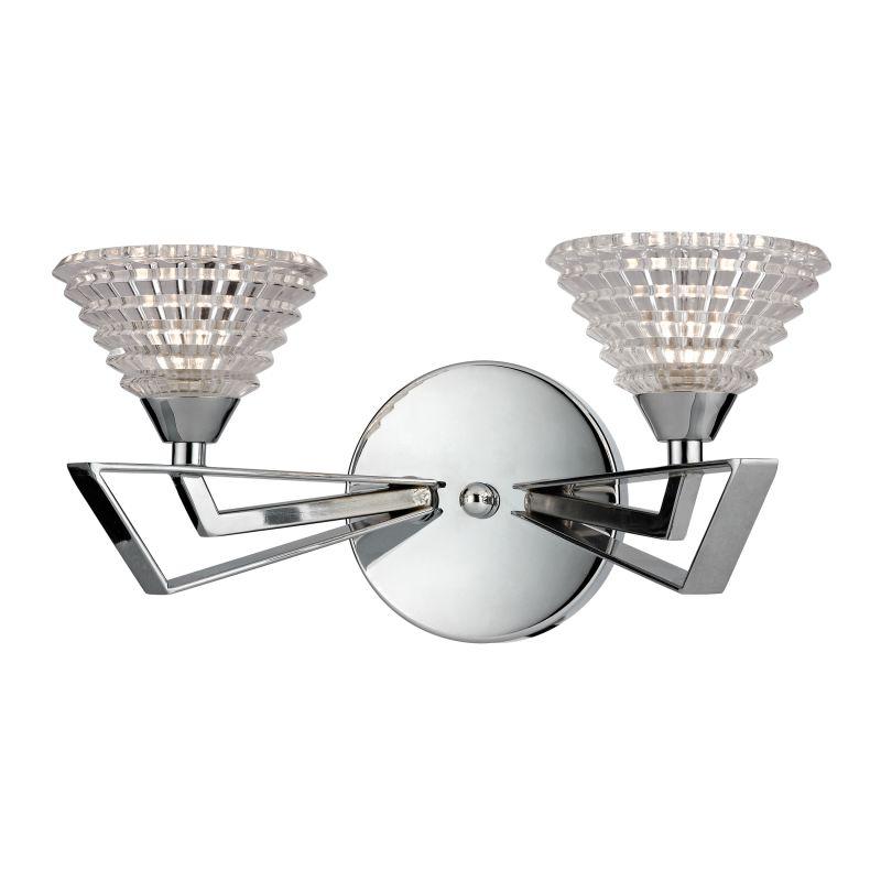 "Elk Lighting 46151/2 Frenzy 2 Light 12"" Vanity Fixture Polished Chrome"