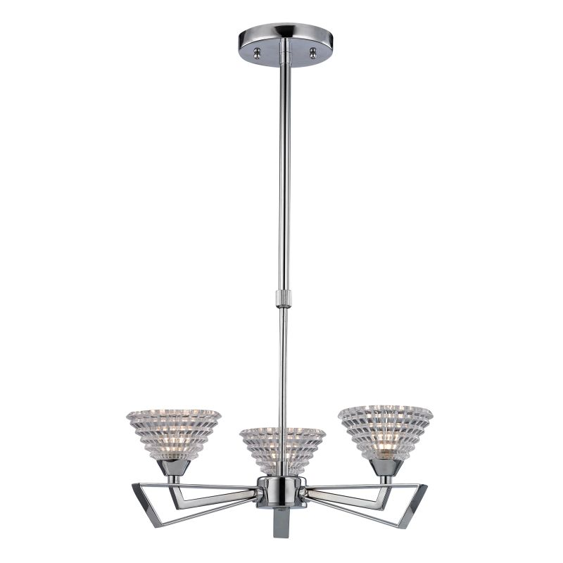 Elk Lighting 46153/3 Frenzy 3 Light 1 Tier Chandelier Polished Chrome Sale $173.00 ITEM: bci2347044 ID#:46153/3 UPC: 748119069326 :