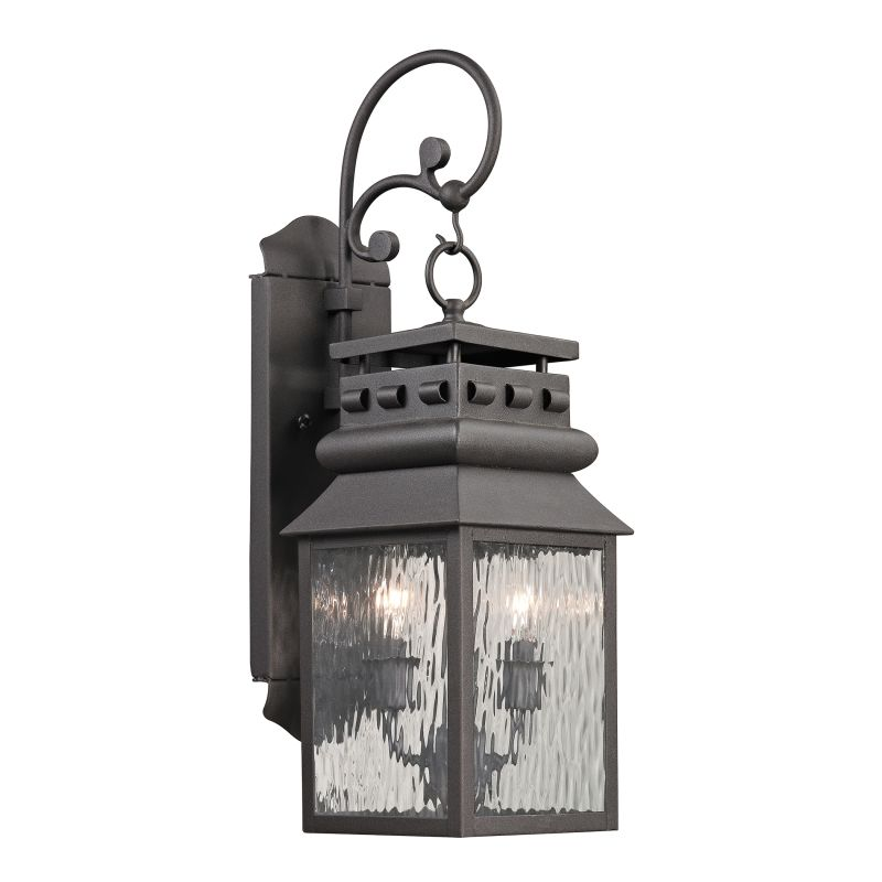 Elk Lighting 47065/2 Forged Lancaster 2 Light Outdoor Wall Sconce Sale $252.00 ITEM: bci2351819 ID#:47065/2 UPC: 748119070742 :