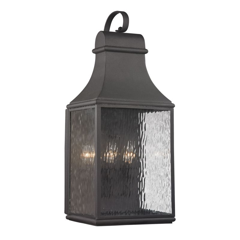 Elk Lighting 47073/3 Forged Jefferson 3 Light Outdoor Wall Sconce Sale $294.00 ITEM: bci2351824 ID#:47073/3 UPC: 748119070803 :