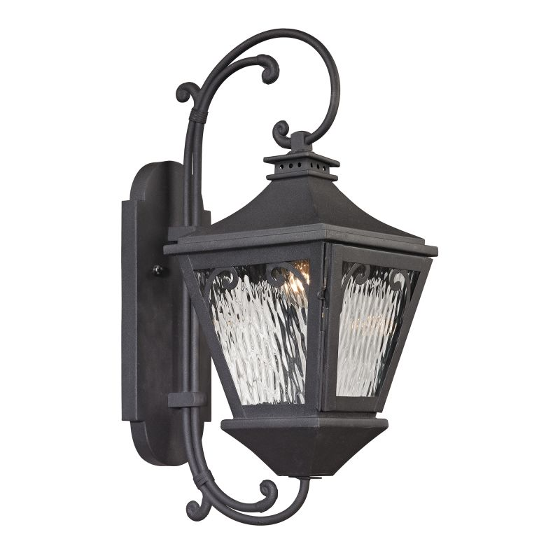 Elk Lighting 47092/1 Forged Manor 1 Light Outdoor Wall Sconce Charcoal