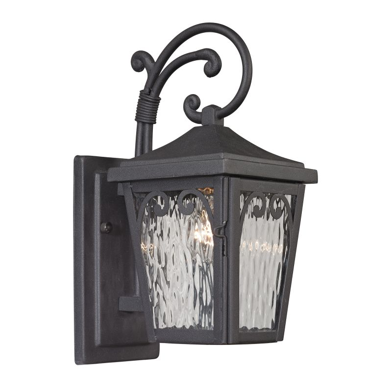 Elk Lighting 47093/1 Forged Manor 1 Light Outdoor Wall Sconce Charcoal