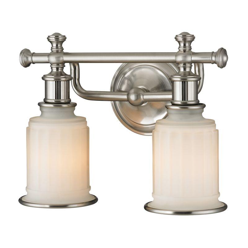 """Elk Lighting 52001/2 Acadia 2 Light 13"""" Vanity Fixture with Frosted"""