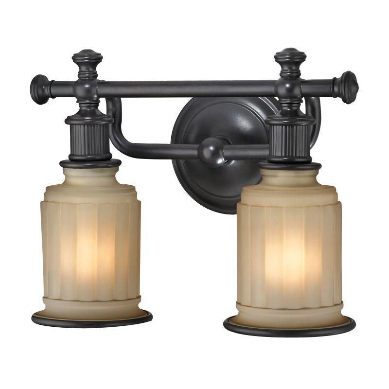 """Elk Lighting 52011/2 Acadia 2 Light 13"""" Vanity Fixture with Frosted"""