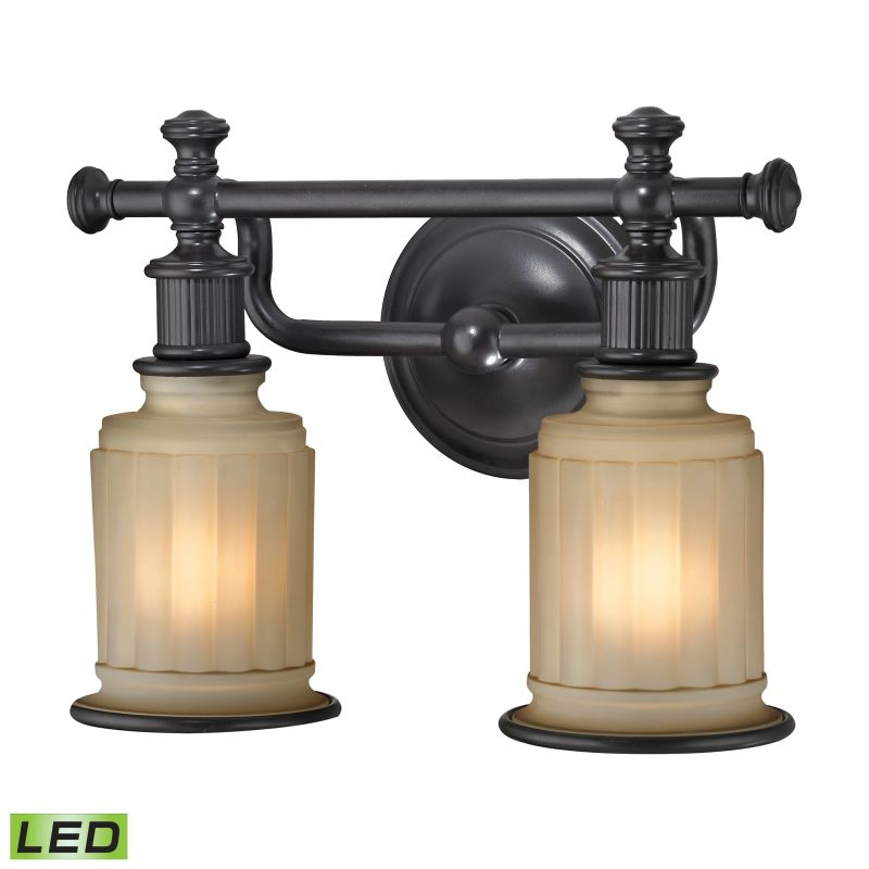 "Elk Lighting 52011/2-LED Acadia 2 Light 13"" LED Vanity Fixture with"