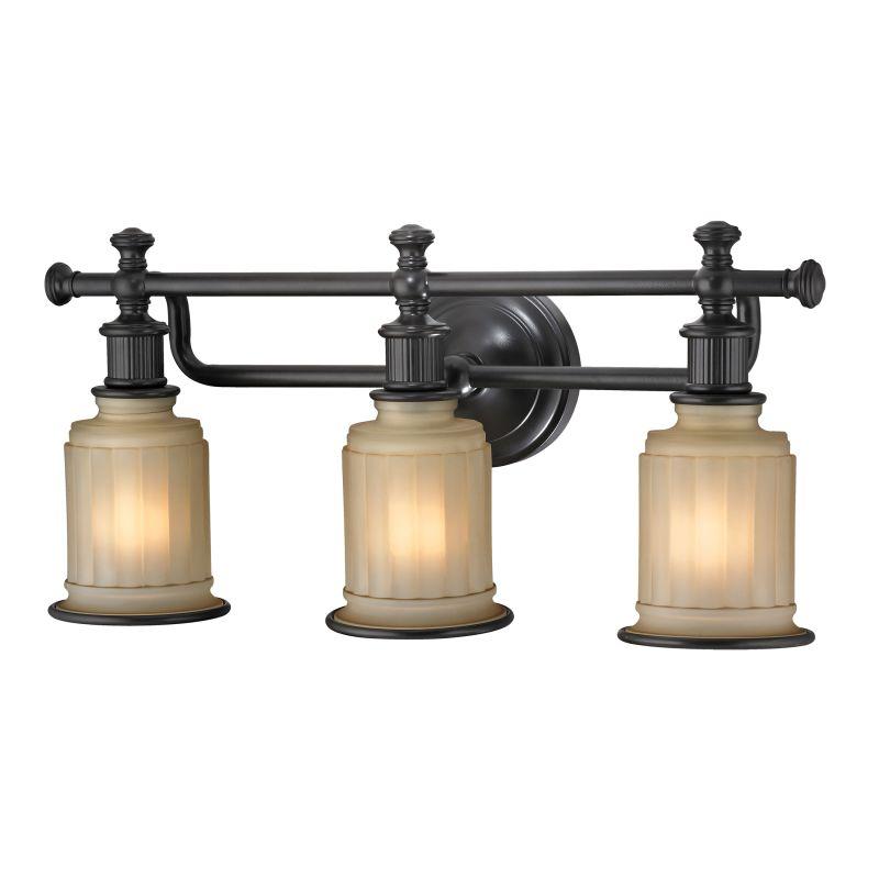 """Elk Lighting 52012/3 Acadia 3 Light 22"""" Vanity Fixture with Frosted"""