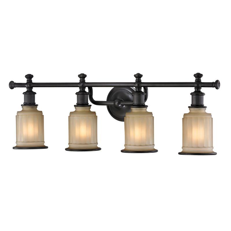 """Elk Lighting 52013/4 Acadia 4 Light 30"""" Vanity Fixture with Frosted"""