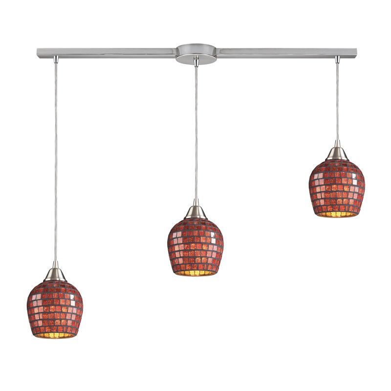 "Elk Lighting 528-3L Fusion 3 Light 36"" Wide Linear Pendant with"