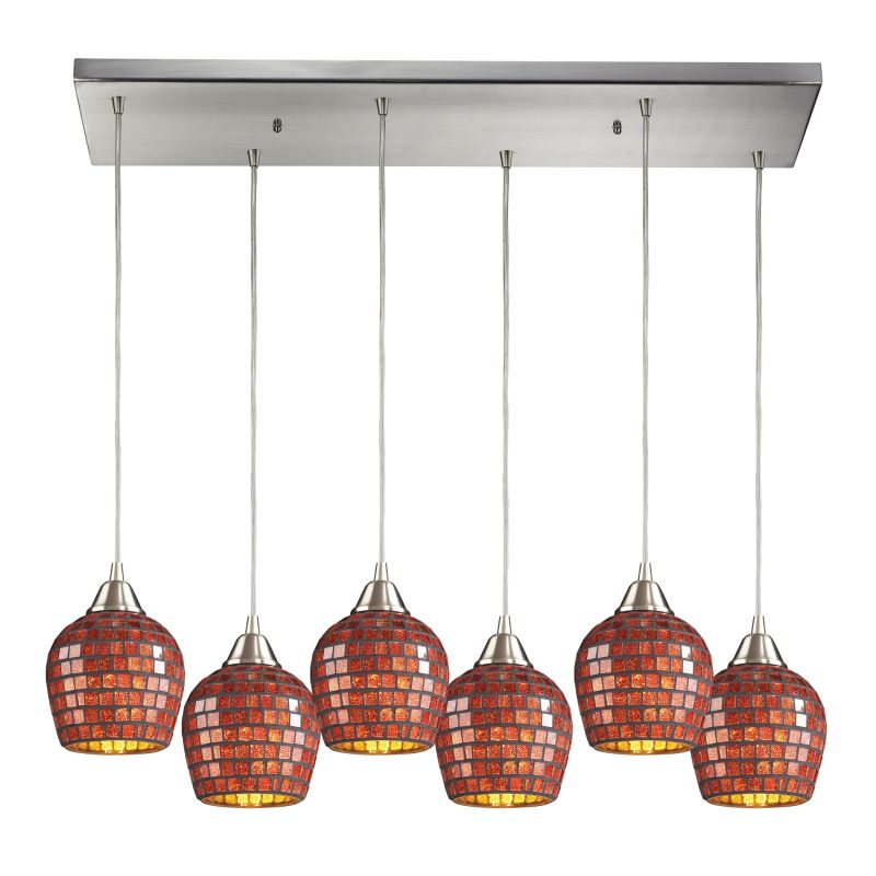 "Elk Lighting 528-6RC Fusion 6 Light 30"" Wide Multi Light Pendant with"