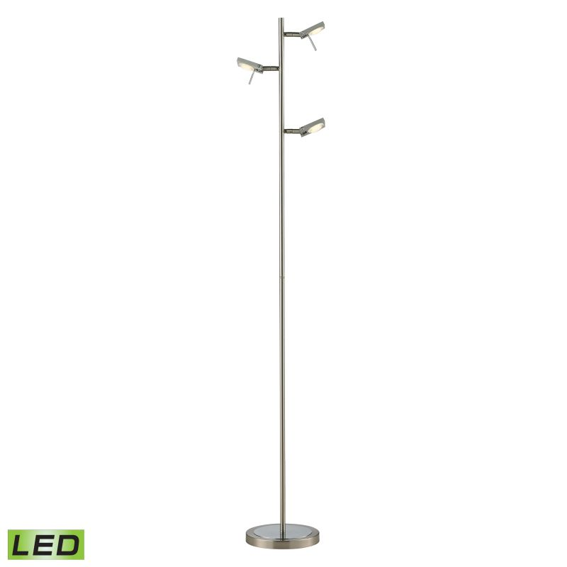 Elk Lighting 54015/3 Reilly 3 Light LED Floor Lamp Brushed Nickel /
