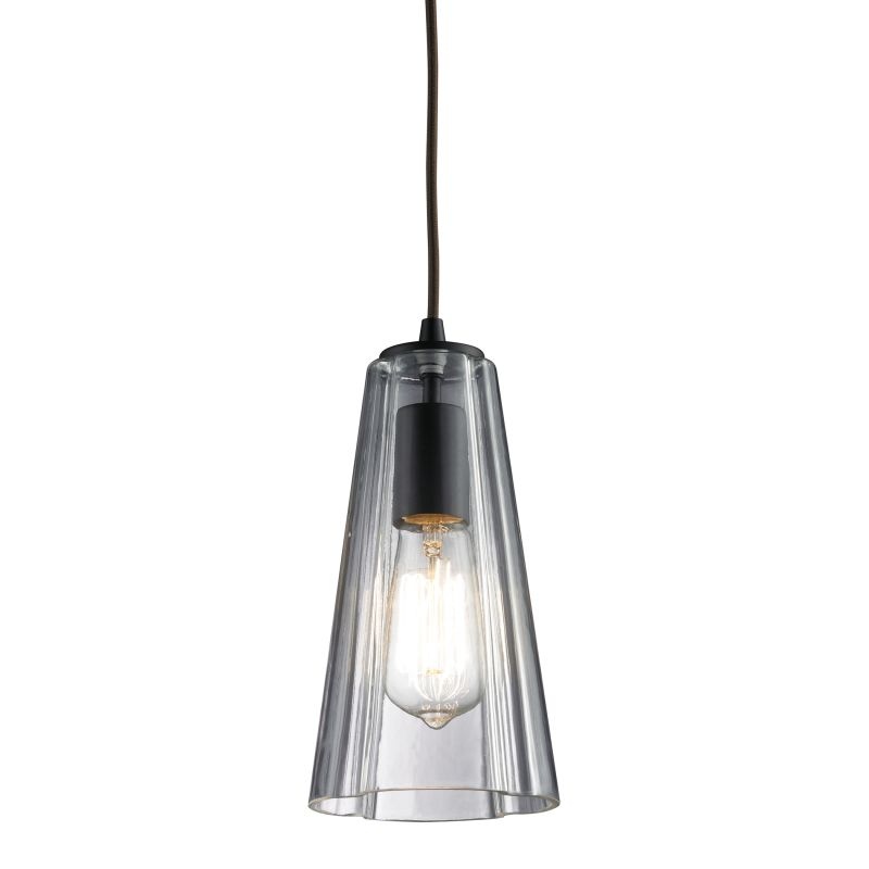 Elk Lighting 60048-1 Menlow Park 1 Light Pendant Oiled Bronze Indoor