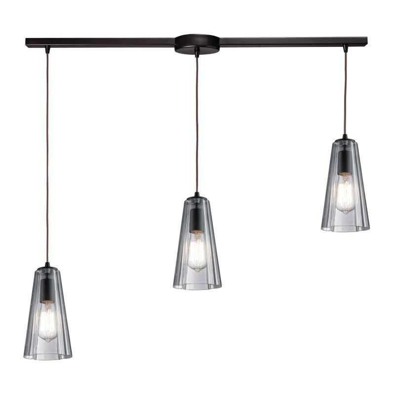 Elk Lighting 60048-3L Menlow Park 3 Light Pendant Oiled Bronze Indoor