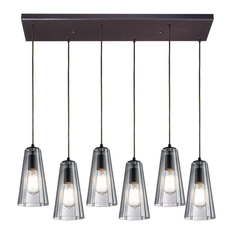 Elk Lighting 60048-6RC Menlow Park 6 Light Pendant Oiled Bronze Indoor