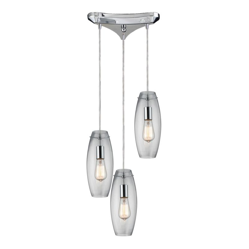 "Elk Lighting 60054-3 Menlow Park 3 Light 10"" Wide Multi Light Pendant"
