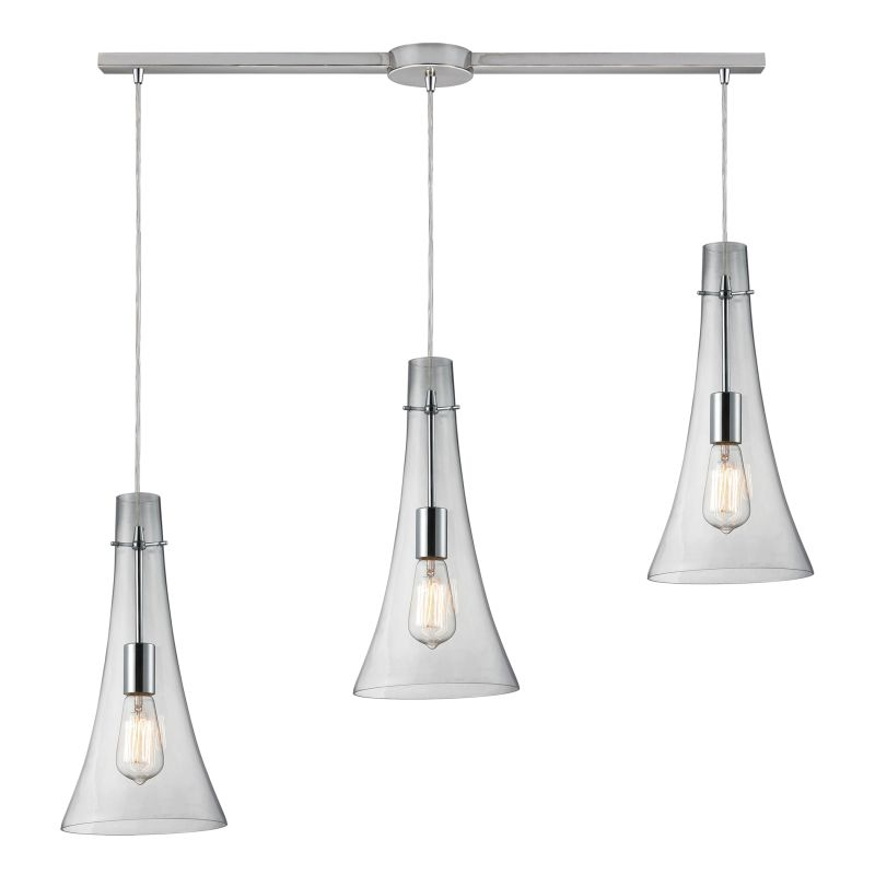 "Elk Lighting 60055-3L Menlow Park 3 Light 36"" Wide Linear Pendant with"