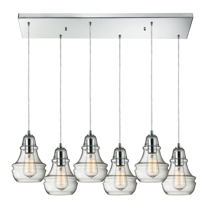 "Elk Lighting 60057-6RC Menlow Park 6 Light 30"" Wide Multi Light Sale $1082.00 ITEM: bci2583173 ID#:60057-6RC UPC: 830335017479 :"