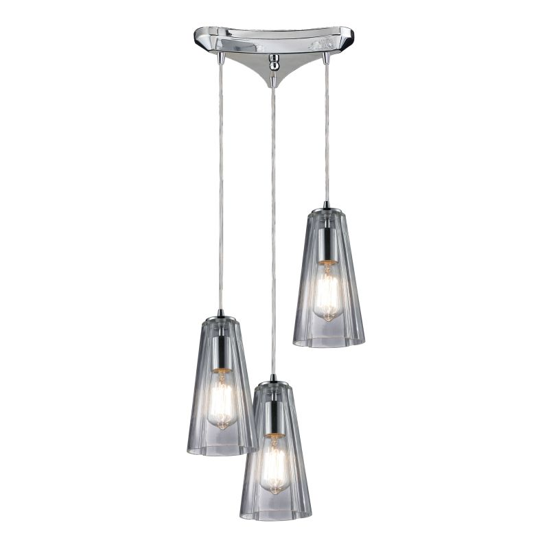 Elk Lighting 60058-3 Menlow Park 3 Light Pendant Polished Chrome