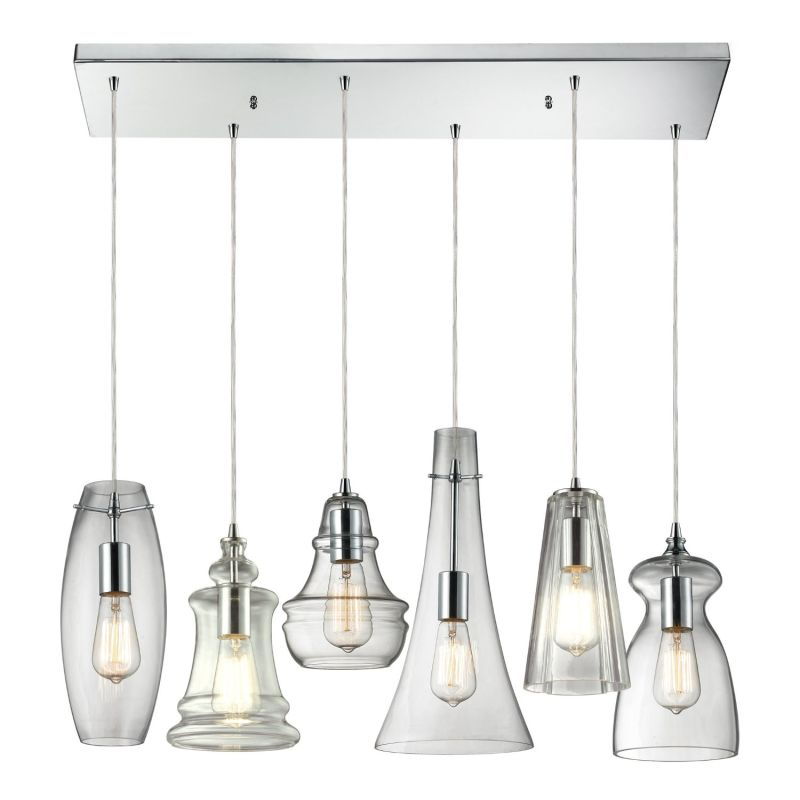 Elk Lighting 60059-6M-RC Menlow Park 6 Light Pendant Polished Chrome