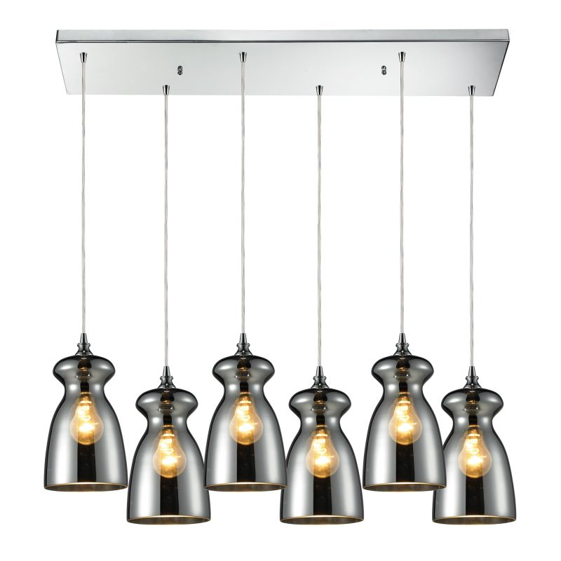 Elk Lighting 60063-6RC Menlow Park 6 Light Pendant Polished Chrome