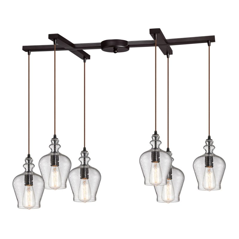 Elk Lighting 60066-6 Menlow Park 6 Light Linear Pendant Oil Rubbed Sale $1010.00 ITEM: bci2347076 ID#:60066-6 UPC: 748119064116 :