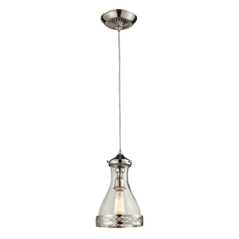 "Elk Lighting 63024-1 Brookline Single Light 7"" Wide Mini Pendant with"
