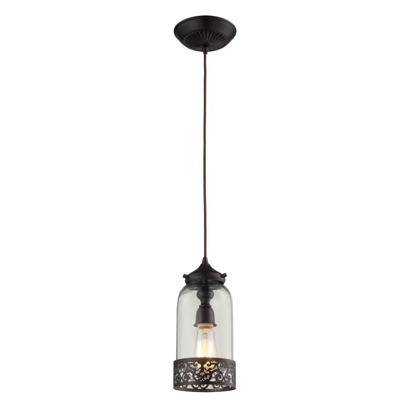 Elk Lighting 63035-1 Brookline 1 Light Pendant Oiled Bronze Indoor