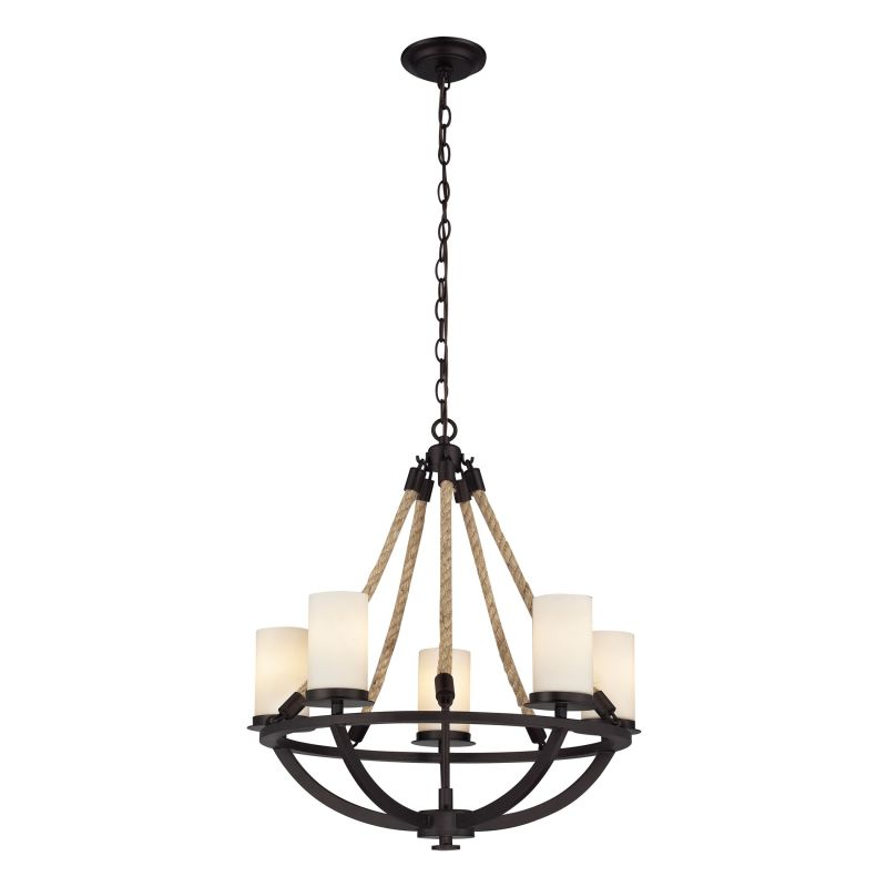 Elk Lighting 63041-5 5 Light 1 Tier Chandelier From The Natural Rope