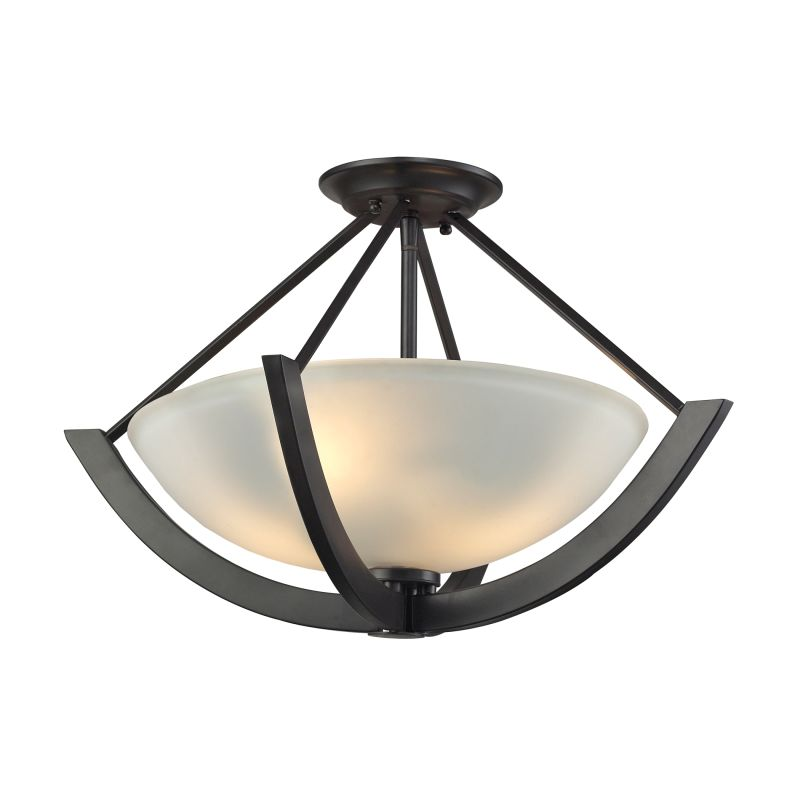 Elk Lighting 63071/2 Morrison 2 Light Semi-Flush Ceiling Fixture Oil Sale $218.00 ITEM: bci2615189 ID#:63071/2 UPC: 748119086644 :